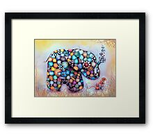 Little Sunshine the Patchwork Elephant Framed Print