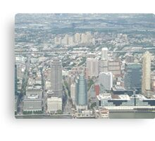 Aerial View of  Jersey City, New Jersey, from One World Observatory, World Trade Center Observation Deck, New York City  Canvas Print