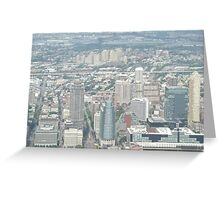 Aerial View of  Jersey City, New Jersey, from One World Observatory, World Trade Center Observation Deck, New York City  Greeting Card