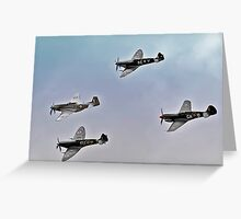 Formation of Fighters of WW2 Greeting Card