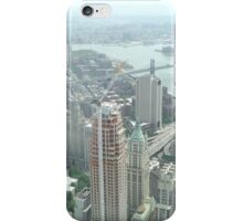 Aerial View of  Lower Manhattan, Manhattan, Brooklyn Bridges, from One World Observatory, World Trade Center Observation Deck, New York City  iPhone Case/Skin