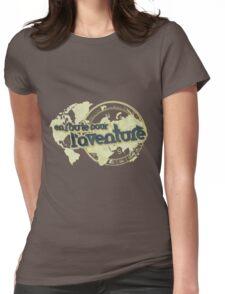 en route pour l'aventure travel map Womens Fitted T-Shirt