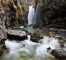 New Zealand Waterfalls by Kimball Chen
