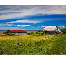 Old Barns at Burnthead Cove, Nova Scotia Photographic Print