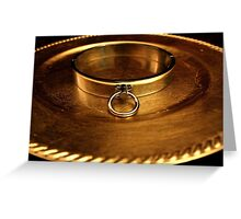 Gold Slave Collar  Greeting Card