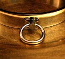Gold Slave Collar  Sticker
