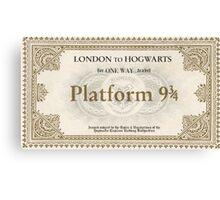 Hogwarts Express Ticket Canvas Print