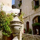 the fountain, St Paul de Vence, France by BronReid