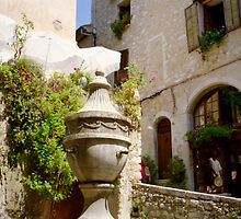 the fountain, St Paul de Vence, France by BronReid