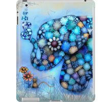 Little Blue the Patchwork Elephant iPad Case/Skin