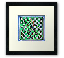 Ghostly Snake Game Framed Print