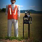 Man/Dog Letterbox by Josie Jackson