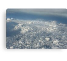 cloudscape from the plane Canvas Print