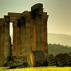 Fallen Column at the Temple of Zeus by EvergreenImp