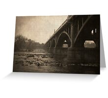 Gervais Street Bridge. Greeting Card