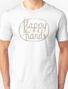 FLAPPY HANDS are HAPPY HANDS - Brown T-Shirt