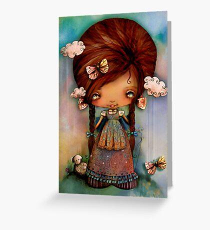Little Shepherd Girl Greeting Card