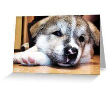 Kitana tired =] Greeting Card