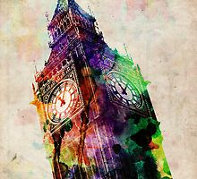 London Big Ben Urban Art by Michael Tompsett