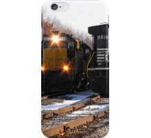If that railroad train was mine, I bet I'd move out over a little, Farther down the line iPhone Case/Skin