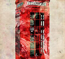 London Telephone Box Urban Art by Michael Tompsett
