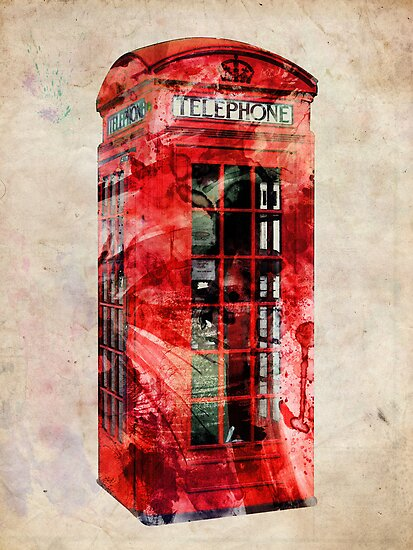 London Telephone Box Urban Art by ArtPrints