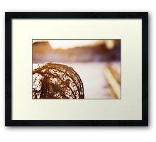 Fisherman Tools at Sunset Framed Print