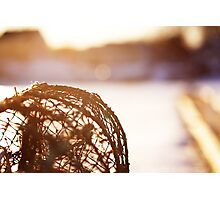 Fisherman Tools at Sunset Photographic Print