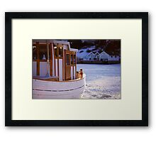 Boat at Sunset Framed Print