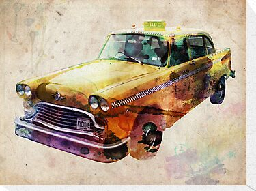 NYC Classic Taxi Urban Art by ArtPrints