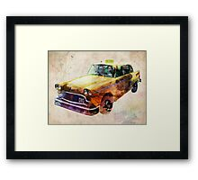 NYC Classic Taxi Urban Art Framed Print