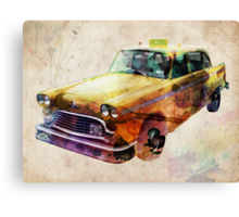 NYC Classic Taxi Urban Art Canvas Print