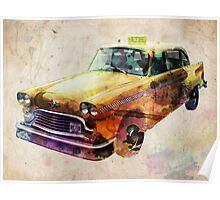 NYC Classic Taxi Urban Art Poster