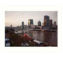 Southbank, Brisbane River, Brisbane Art Print