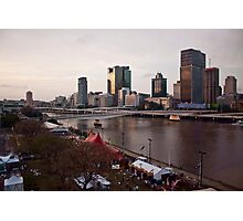 Southbank, Brisbane River, Brisbane Photographic Print
