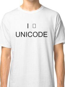 I <3 Unicode! Classic T-Shirt