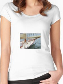 Let's Set Sail Women's Fitted Scoop T-Shirt