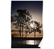 Wivenhoe Dam at Sunset Poster