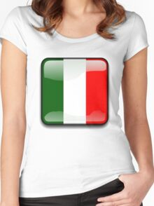 Italian Flag, Italy Icon Women's Fitted Scoop T-Shirt