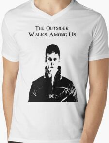 The Outsider Walks Among Us - Hello Corvo Alt Mens V-Neck T-Shirt