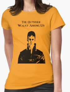 The Outsider Walks Among Us - Hello Corvo Alt Womens Fitted T-Shirt