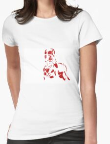 Tin man silhouette Womens Fitted T-Shirt