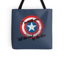 I'm With You Shield Tote Bag