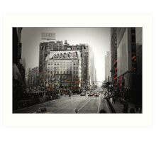 Broadway and 33rd Street Art Print