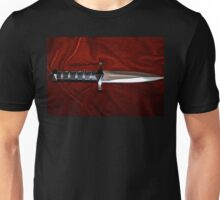 Fantasy Knife on Red Velvet  Unisex T-Shirt