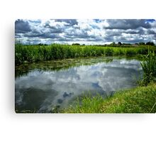 Canal Clouds Canvas Print