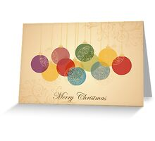 Fancy Baubles - Merry Christmas Greeting Card