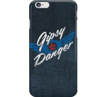 Gipsy Danger - white text iPhone Case/Skin