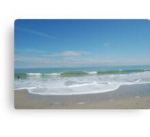 Atlantic Ocean in Winter Canvas Print