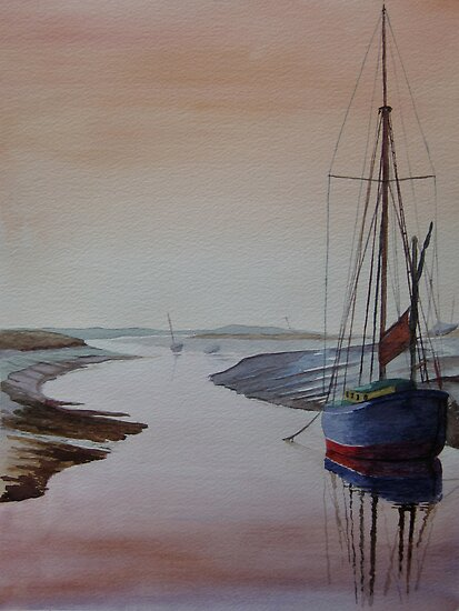 Resting Place - Blakeney, Norfolk by Marie Edlin